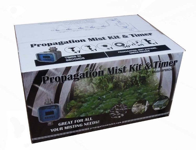 Greenhouse Misting System Kits : Greenhouse mist system complete with a misting timer that