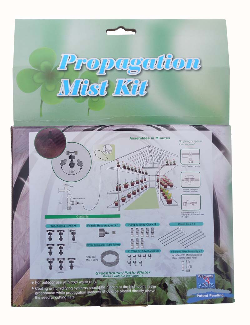 Propagation Misting Systems : Greenhouse mist system complete with a misting timer that