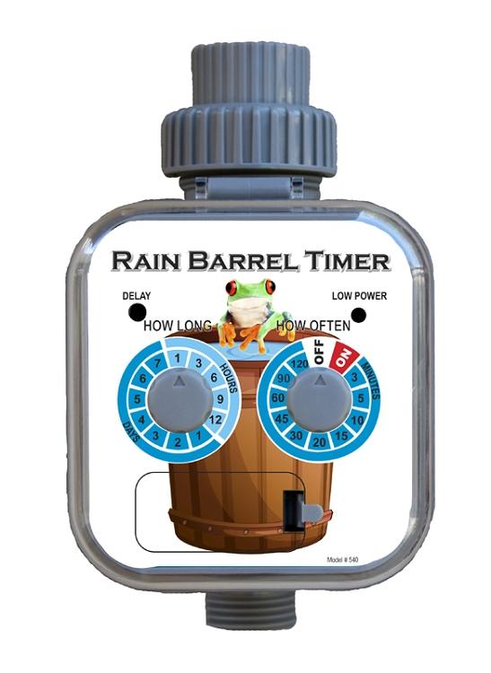 Rain Barrel Timer Requires No Pressure To Operate